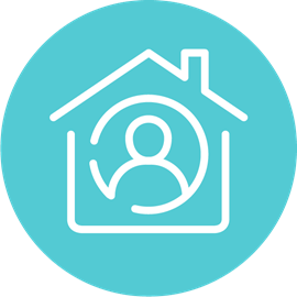 Light blue home icon